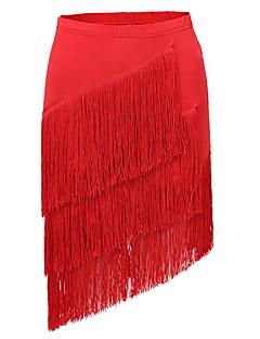 Latin Dance Tutus & Skirts Women's Performance Spandex Draped / Tassel(s) 1 Piece Black / Fuchsia / Purple / Red Latin Dance / Samba Skirt