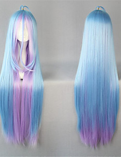 Lolita Wigs Sweet Lolita Color Gradient Extra Long Blue Lolita Wig 105 CM Cosplay Wigs Patchwork Wig For Women