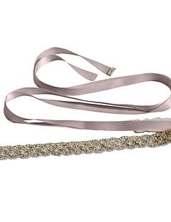 Szatén Esküvő / Party/estély / Hétköznapi Ablakszárny-Flitterekkel / Kövekkel / Strasszos Női 98 ½ hüvelyk (250 cm)Flitterekkel /
