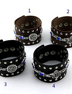 Jewelry Inspired by Black Butler Cosplay Anime Cosplay Accessories Bracelet Black / Brown Alloy / PU Leather Male / Female