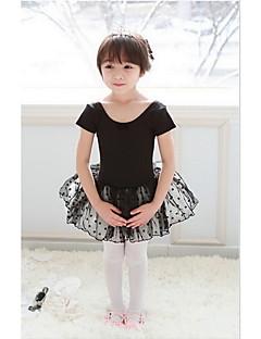 Ballet Dresses Children's Performance Cotton / Tulle Ruffles / Polka Dots 1 Piece Black / Pink