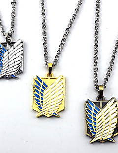Gioielli Ispirato da Attack on Titan Cosplay Anime Accessori Cosplay Collane Marrone / Oro / Argento Lega Uomo