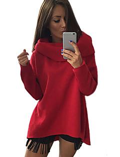 Women's Turtleneck Solid Loose Irregular All Match Comfort Hoodies