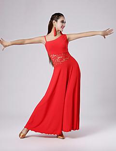 Dança de Salão Vestidos Mulheres Seda tecida com Cetim S:125cm,M:125cm,L:130cm,XL:130cm,XXL:132cm