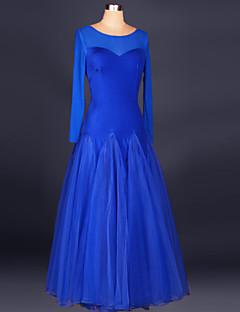 볼륨 댄스 드레스 여성용 성능 스판덱스 드레이프 1개 드레스 125