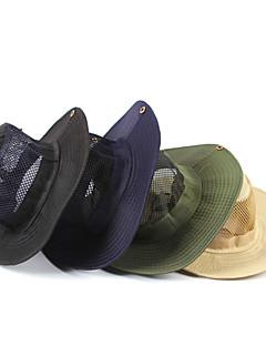Güneş Şapkası Şapka Hafif Malzemeler Siyah / Koyu Mavi / Bej / Ordu Yeşili Kamp & Yürüyüş İlkbahar / Yaz / Sonbahar
