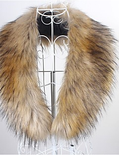 Fur Wraps / Fur Accessories / Faux Leather Collars Sleeveless Faux Fur Black / Brown / White Party/Evening / Casual Shawl CollarHidden