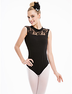 Cotton/Lycra  Turtle-neckTank Leotard  with Lace More Colors for Girls and Ladies