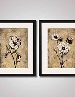 Abstracto / Paisaje / Floral/Botánico / Bodegón Impresión de arte enmarcada / Lienzo enmarcado / Conjunto enmarcado Arte de la pared,PVC
