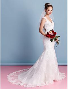 Lanting Trumpet/Mermaid Wedding Dress - Ivory Court Train Sweetheart Tulle