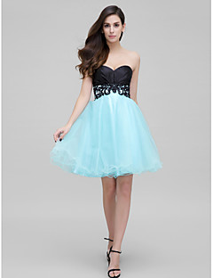 TS Couture Cocktail Party Dress - Multi-color A-line Sweetheart Short/Mini Satin / Tulle