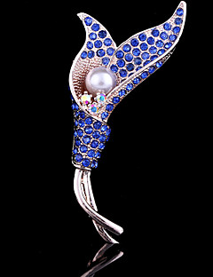 Women's Tulip Flower Brooch for Wedding Party Decoration Scarf ,Fine Jewelry
