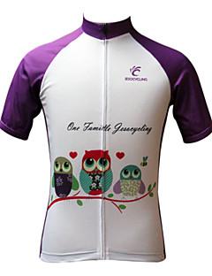 JESOCYCLING Cyklodres Dámské Krátké rukávy Jezdit na kole Dres Vrchní část oděvuRychleschnoucí Odolný vůči UV záření Prodyšné Lehké
