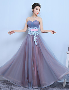 Cocktail Party Dress-Regency A-line Sweetheart Floor-length Tulle