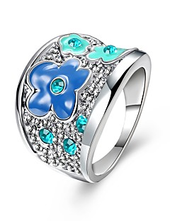 Ring Wedding / Party / Daily / Casual Jewelry Zircon / Gold Plated / Opal Women Statement Rings 1pc,6 / 7 / 8 Gold / White