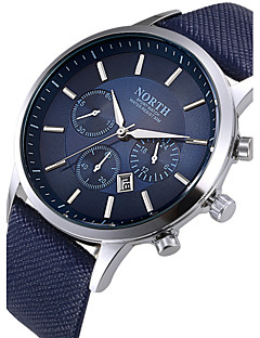 North® Creative Sports Style Luxury Fashion Mens Genuine Leather Band Analog Quartz Watches Casual Males Business Watch Wrist Watch Cool Unique Watch