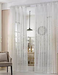 zwei Panele Rustikal / Modern / Neoklassisch / Mediterran / Europäisch Blumen / Pflanzen / Blatt / Weinrebe Beige / Grün Wohnzimmer