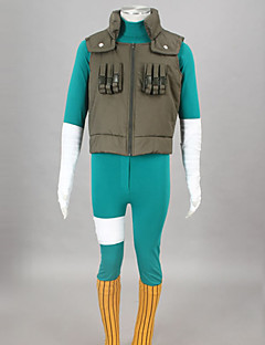 Inspired by Naruto Rock Lee Anime Cosplay Costumes Cosplay Suits Patchwork Green Vest / Leotard / Belt / Leg Warmers / Bandage