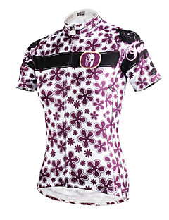 ILPALADINO חולצת ג'רסי לרכיבה לנשים שרוול קצר אופניים ג'רזי צמרותייבוש מהיר עמיד אולטרה סגול נושם דחיסה חומרים קלים כיס אחורי מפחית