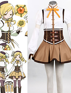 Inspired by Puella Magi Madoka Magica Mami Tomoe Anime Cosplay Costumes Cosplay Suits Patchwork White / BrownTop / Skirt / Headpiece /