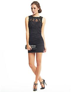 A tubino Con decorazione gioiello Corto / mini Jersey Cocktail Rimpatriata di classe Vestito con Con applique A incrocio di TS Couture®