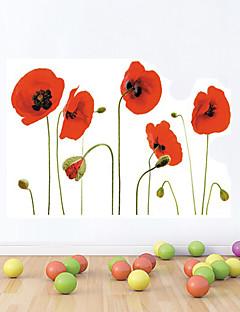 Stickers muraux Stickers muraux, de style fleur rouge pivoine pvc stickers muraux