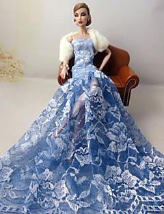 Hochzeit Kleider Für Barbie-Puppe Himmelblau Kleider Für Mädchen Puppe Spielzeug