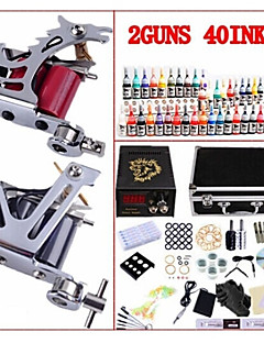 Basekey Professional Tattoo Kit KW02B 2 Machines With Power Supply Grips 40x5ML Ink needles
