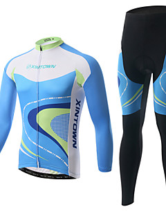 XINTOWN® Cycling Jacket with Pants Unisex Long Sleeve Bike Thermal / Warm / Fleece Lining / Insulated / Anti-Fuzz / 3D PadFleece Jackets