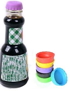 6pcs kreative praktische Bier Kieselgel-Flaschenverschluss Flaschenverschluss Flaschendeckel Deckel für Wein Schnaps Küchenhelfer