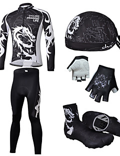 CHEJI® Cycling Jersey with Tights Men's Long Sleeve Bike Breathable / Quick Dry / Ultraviolet Resistant / 3D Pad / Limits BacteriaJersey