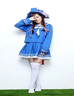 Japan Lovely  Blue Sailor Lolita Costume