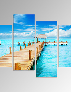 Abstrakt / Fantasie / Freizeit / Landschaft / Photografisch / Modern / Romantisch / Pop Art Leinwand drucken Vier PaneleFertig zum