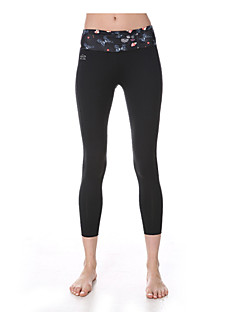 Yoga Pants Fundos Respirável / Secagem Rápida / wicking / Redutor de Suor Natural Stretchy Wear Sports Branco / Preto Mulheres Yokaland