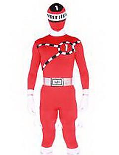 Power Ranger gogo Sentai boukenger bouken keltainen Zentai cosplay puku