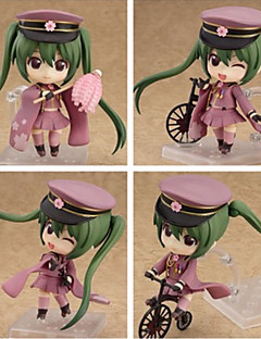 Vocaloid Hatsune Miku PVC One Size Anime Action Figures Model Toys 4pcs 10cm