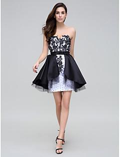 TS Couture® Cocktail Party Dress - Multi-color Sheath/Column Sweetheart Short/Mini Satin