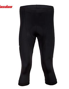 TASDAN® Calças 3/4 Para Ciclismo Homens Respirável / Secagem Rápida / Tapete 3D / Tiras Refletoras / Redutor de Suor Moto3/4 calças