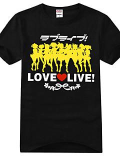 Inspired by Love Live Kotori Minami Anime Cosplay Costumes Cosplay T-shirt Print Black Short Sleeve T-shirt