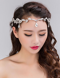 Women's Silver Crystal Rhinestone Headband Forehead Hair Jewelry for Wedding Party