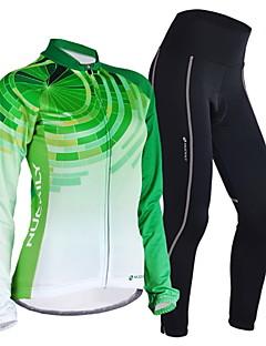NUCKILY® Calça com Camisa para Ciclismo Mulheres / Homens Manga Comprida MotoRespirável / Mantenha Quente / A Prova de Vento / Design