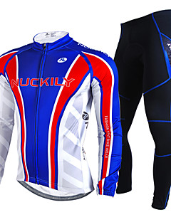 NUCKILY® Cycling Jersey with Tights Men's Long Sleeve Bike Waterproof / Thermal / Warm / Windproof / Rain-Proof / Reflective StripsJersey
