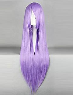 Perruques de Cosplay Black Butler Hannah Anafeloz Violet Long Anime Perruques de Cosplay 80 CM Fibre résistante à la chaleur Féminin