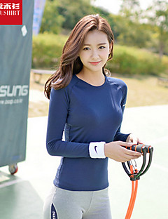 Running T-shirt / Tops Women's Long Sleeve Breathable / Quick Dry / Soft Polyester / ElastaneYoga / Pilates / Leisure Sports /