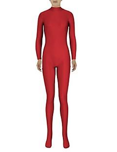 חליפות Zenta Ninja Zentai תחפושות קוספליי אדום אחיד /סרבל תינוקותבגד גוף / Zentai לייקרה / ספנדקס יוניסקסהאלווין (ליל כל הקדושים) / חג