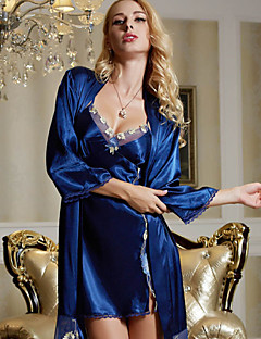 Dun-Kant / Satijn / Zijde-Vrouw-Pyjama