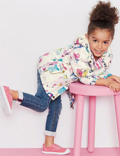 Girl's Hoodie & Sweatshirt / Trench Coat,Polyester Spring / Fall Multi-color