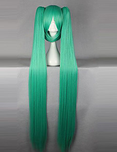 Cosplay Wigs Vocaloid Hatsune Miku Green Extra Long Anime/ Video Games Cosplay Wigs 130 CM Heat Resistant Fiber Female