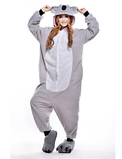 Kigurumi Pyjamas nya Cosplay® / Koala Leotard/Onesie Halloween Animal Sovplagg Grå Lappverk Polar Fleece Kigurumi UnisexHalloween / Jul /