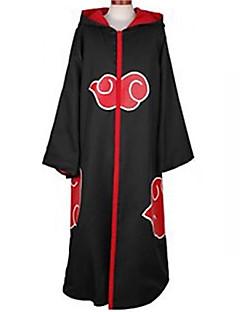 Inspirert av Naruto Akatsuki Anime Cosplay Kostumer Cosplay Suits Trykt mønster Svart Langt Erme Kappe